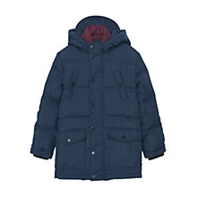Buy Mango Kids Boys' Hooded Coat, Navy Online at johnlewis.com