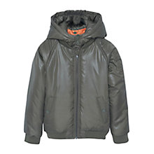 Buy Mango Kids Boys' Padded Coat, Dark Green Online at johnlewis.com