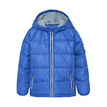 Buy Mango Kids Boys' Quilt Hood Coat, Blue Online at johnlewis.com