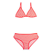 Buy Seafolly Girls' Tropical Splice Bikini Set, Pink Online at johnlewis.com