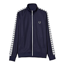 Buy Fred Perry Sports Authentic Laurel Tape Track Jacket, Carbon Blue Online at johnlewis.com