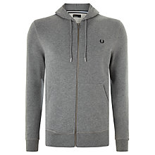 Buy Fred Perry Loop Back Hoodie, Steel Marl Online at johnlewis.com