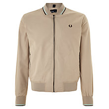 Buy Fred Perry Twin Tipped Bomber Jacket, Oyster Online at johnlewis.com