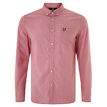 Buy Lyle & Scott End on End Cotton Shirt, Ruby Online at johnlewis.com