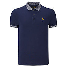 Buy Lyle & Scott Jacquard Collar Cuff Polo Shirt Online at johnlewis.com
