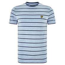 Buy Lyle & Scott Short Sleeve Stripe Bird Tee, Blue Online at johnlewis.com