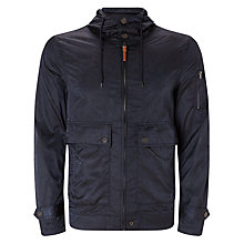 Buy Pretty Green Paisley Wren Jacket, Navy Online at johnlewis.com