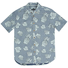 Buy Penfield Belden Short Sleeve Pineapple Shirt, Blue Online at johnlewis.com