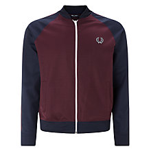 Buy Fred Perry Sports Authentic Bomber Track Jacket, Mahogany Online at johnlewis.com