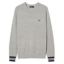 Buy Fred Perry Textured Pique Crew Neck Jumper Online at johnlewis.com