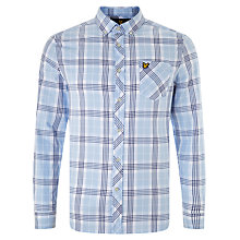 Buy Lyle & Scott Long Sleeve Check Shirt, Glaze Blue Online at johnlewis.com