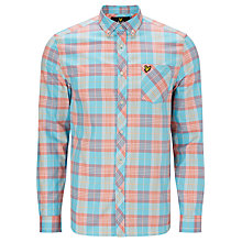 Buy Lyle & Scott Long Sleeve Check Shirt, Caribbean Sea Online at johnlewis.com