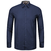 Buy Ted Baker Pupdawg Cotton Shirt, Blue Online at johnlewis.com