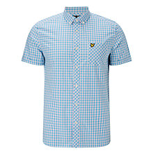 Buy Lyle & Scott Micro Check Shirt, Caribbean Sea Online at johnlewis.com