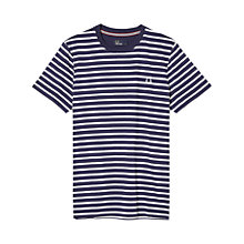 Buy Fred Perry Breton Stripe T-Shirt, Carbon Blue Online at johnlewis.com