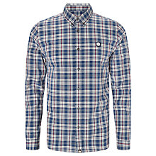 Buy Pretty Green Tarran Check Shirt, Blue Online at johnlewis.com