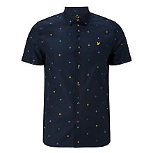 Buy Lyle & Scott Micro Print Poplin Shirt, Navy Online at johnlewis.com
