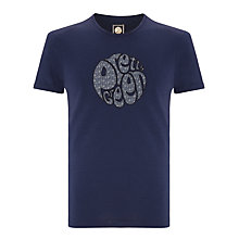 Buy Pretty Green Carver Floral T-Shirt, Navy Online at johnlewis.com