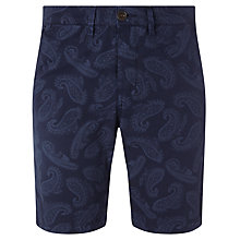 Buy Pretty Green Foxley Paisley Shorts, Navy Online at johnlewis.com
