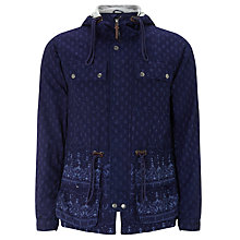 Buy Pretty Green Printed Tarbet Jacket, Indigo Online at johnlewis.com