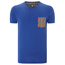 Buy Pretty Green Velmere Grandad T-Shirt, Mazzerine Blue Online at johnlewis.com