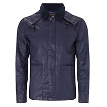 Buy Pretty Green Vanguard Waxed Hooded Jacket Online at johnlewis.com