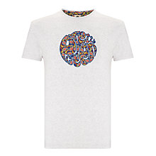Buy Pretty Green Paisley Tears T-Shirt, Grey Online at johnlewis.com