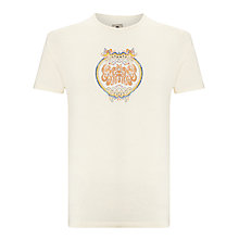 Buy Pretty Green Love is All You Need T-Shirt, Antique White Online at johnlewis.com