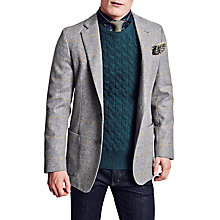 Buy Thomas Pink Chapman Windowpane Check Blazer, Grey/Yellow Online at johnlewis.com