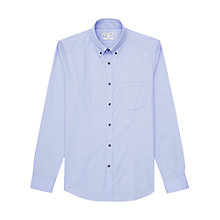Buy Reiss Lamb Button Down Slim Fit Shirt, Sky Blue Online at johnlewis.com