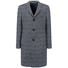 Buy Jaeger Double-Faced Check Coat, Black Online at johnlewis.com