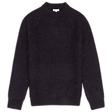 Buy Reiss Cook Ribbed Crew Neck Jumper, Navy Online at johnlewis.com