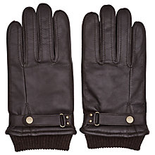 Buy Reiss Penfold Leather Cuffed Gloves Online at johnlewis.com