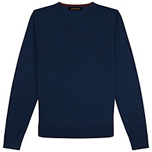 Buy Jaeger Gostwyck Merino Wool V-Neck Jumper Online at johnlewis.com