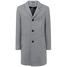 Buy Jaeger Double Faced Herringbone Wool Coat, Grey Online at johnlewis.com