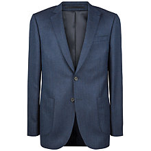 Buy Jaeger Wool Herringbone Modern Jacket, Navy Online at johnlewis.com