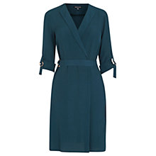 Buy Warehouse D Ring Wrap Dress, Teal Online at johnlewis.com
