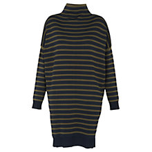 Buy Whistles Stripe Funnel Neck Tunic, Blue/Multi Online at johnlewis.com