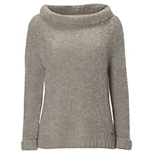 Buy White Stuff Curly Boucle Jumper, Glaze Grey Online at johnlewis.com