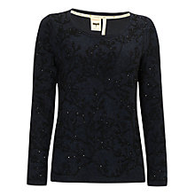 Buy White Stuff Into The Woods Jumper, Sapphire Blue Online at johnlewis.com