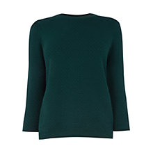 Buy Oasis Honeycomb Jumper, Deep Green Online at johnlewis.com