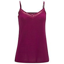 Buy White Stuff Sing Song Jersey Cami, Flamingo Purple Online at johnlewis.com