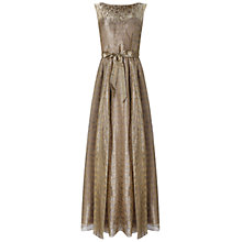 Buy Aidan Mattox Cap Sleeve Metallic Organza Gown, Gold Online at johnlewis.com