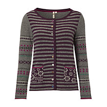 Buy White Stuff Otto Fairisle Cardigan, Eclectic Purple Online at johnlewis.com