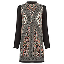 Buy Oasis Textured Scarf Shift Dress, Multi/Black Online at johnlewis.com