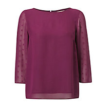 Buy White Stuff Plain Day Dream Top, Purple Online at johnlewis.com