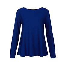 Buy Hobbs Kirsty Swing Sweater, Dark Cobalt Online at johnlewis.com