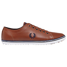 Buy Fred Perry Kingston Leather Trainers, Tan Online at johnlewis.com