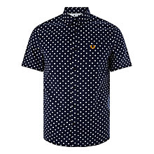 Buy Fred Perry Polka Dot Shirt, Rich Navy Online at johnlewis.com