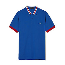 Buy Fred Perry Bomber Stripe Polo Shirt, Regal Blue Online at johnlewis.com